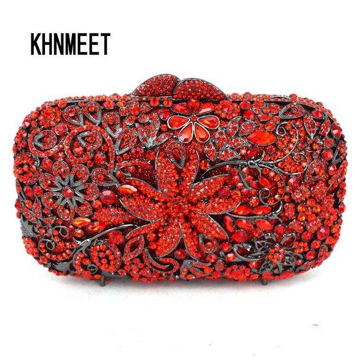 Aliexpress.com : Buy Newest Flower Crystal Diamond Evening Clutches Bag Wedding Party Prom banquet Clutch Bag Purse pochette for soiree Handbag SC524 from Reliable evening clutch bags suppliers on KHNMEET Factory Store