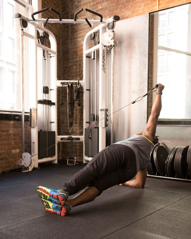 6. Side Plank With Cable Hold #abs #workout #exercises http://greatist.com/move/abs-workout-most-effective-core-moves-to-do-at-the-gym
