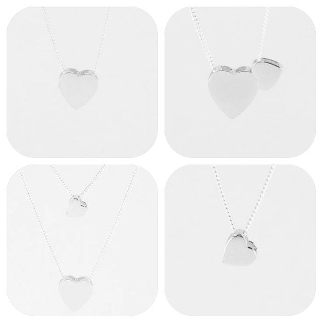 Dainty hearts. Meaningful sterling silver pendants. Versatile to wear.  Share with a loved one. Mother and daughter. Best friends. Aunty and niece. Sisters.