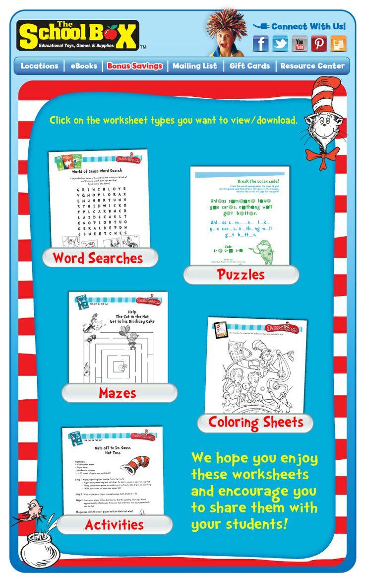 67 best Dr.Seuss worksheets images on Pinterest | Dr suess, Activity ...