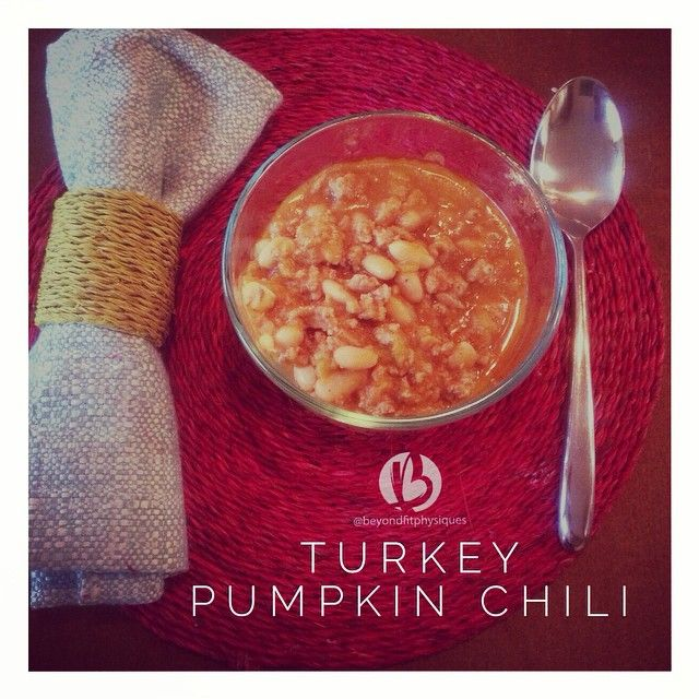 HEALTHY {Crock Pot Turkey White Bean Pumpkin Chili} LOVE this dinner ...