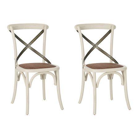 wood + white café chairs (set)
