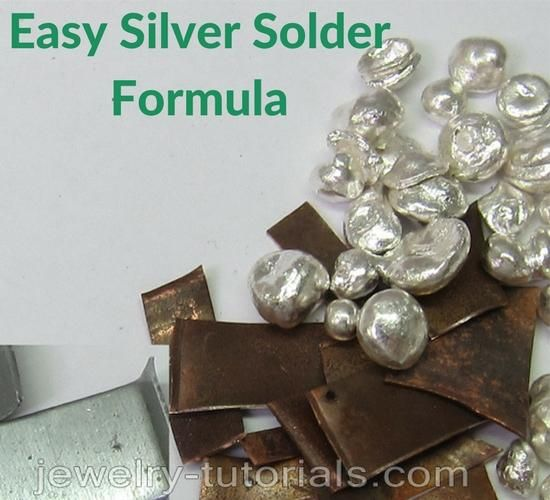 Make your own easy silver solder using this formula and following the step by step explanation in this free tutorial. The trick to mix the metals to form a low melting temperature solder for general solder use is too add the highest temperature metals first.