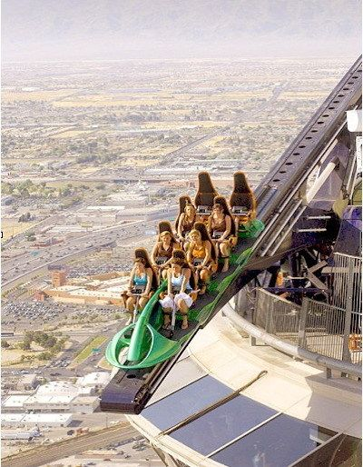 The X-Scream at the Stratosphere Hotel. This will take ...