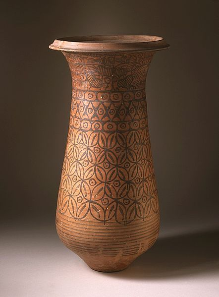 Ceremonial vessel from Harappan (Indus Valley Civilization). Southern Pakistan, 2600 - 2450 BC.