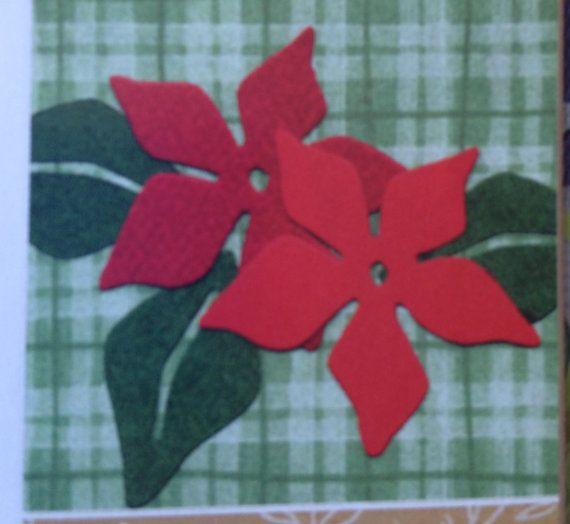 Quickutz Poinsettia Flower Die Cuts on Etsy, $1.99