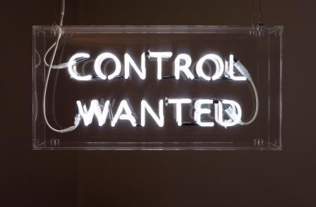 'Control Wanted 3' Neon by Nikolaj B. S. Larsen   Light Up Typography Art   Sign   Lights   Words   Text