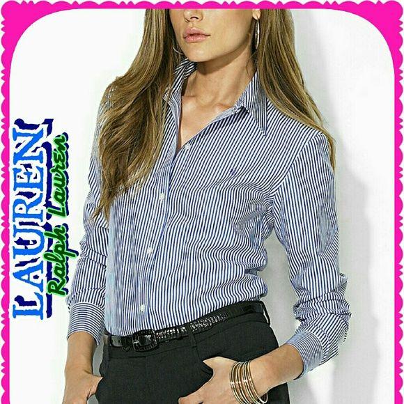 Ralph Lauren Shirt*SALE* Pin striped blue button down Ralph Lauren Tops Button Down Shirts