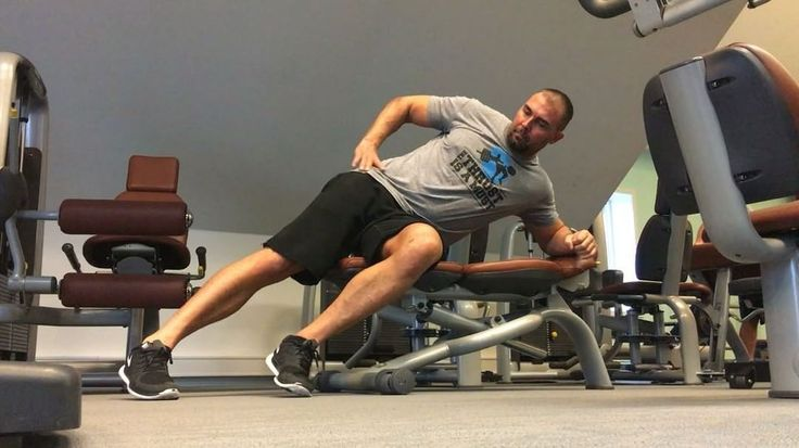 VIDEO / Bret Contreras on Instagram: This is my favorite upper glute exercise. The bench allows for more hip range of motion. Fries the upper subdivision of the gluteus maximus in addition to the gluteus medius. Try it, you will like it. For optimal glute development you must make sure you grow your upper and lower glutes. This isolates the upper fibers without firing any lower fibers. Turn the foot inwards slightly (hip internal rotation). You can wear an ankle weight if you wish.