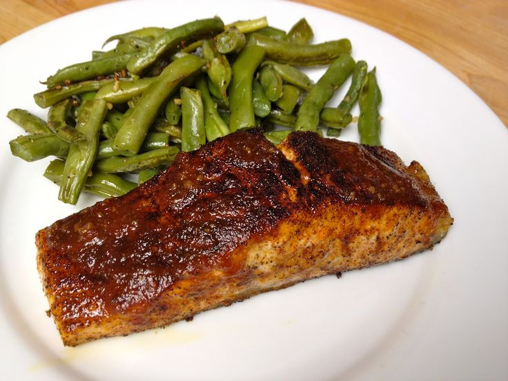 If you like salmon you'll love this recipe. If you want someone to learn to like salmon this might do the trick. (Use a South Beach friendly BBQ sauce for a wonderful Phase 1 South Beach Meal)