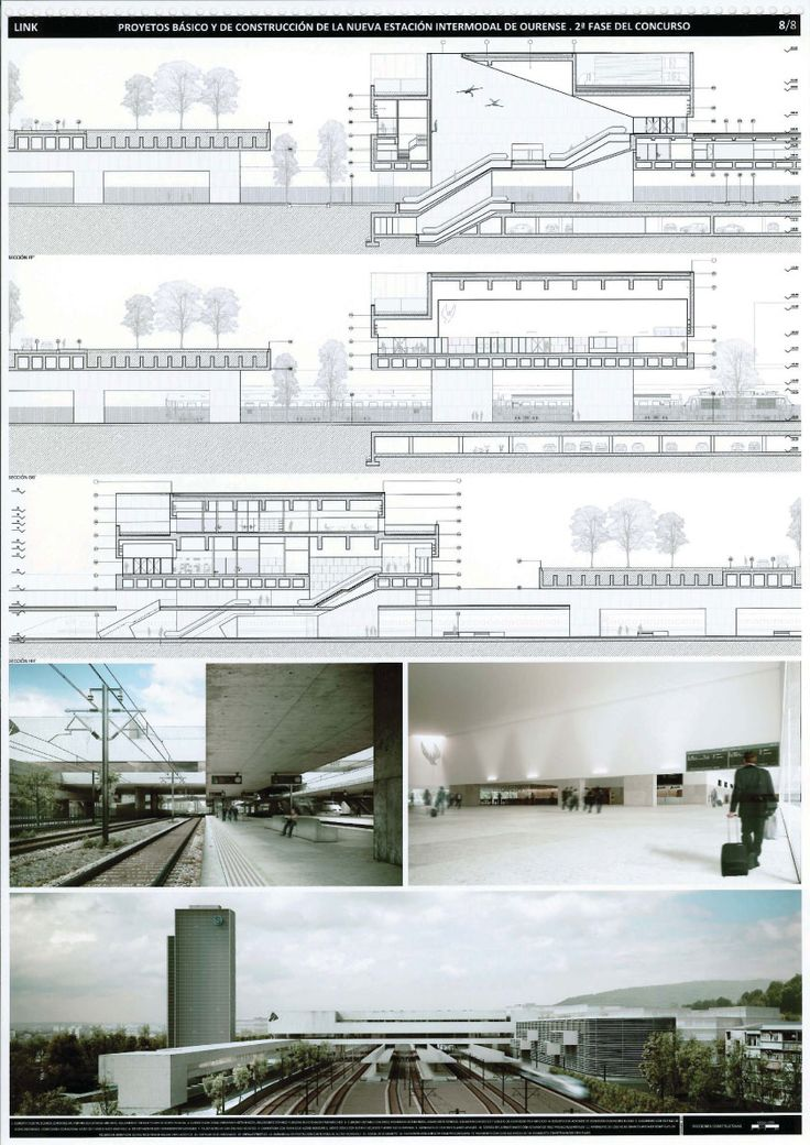 Marvelous sections made with autocad most likely assembled with other photos using indesign