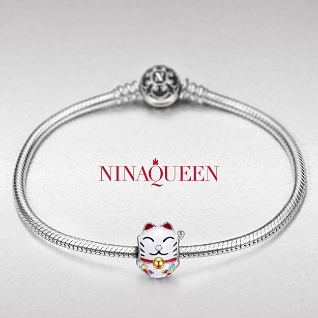 NinaQueen Lucky Cat 925 Sterling Silver Charms Bead for women fit ...