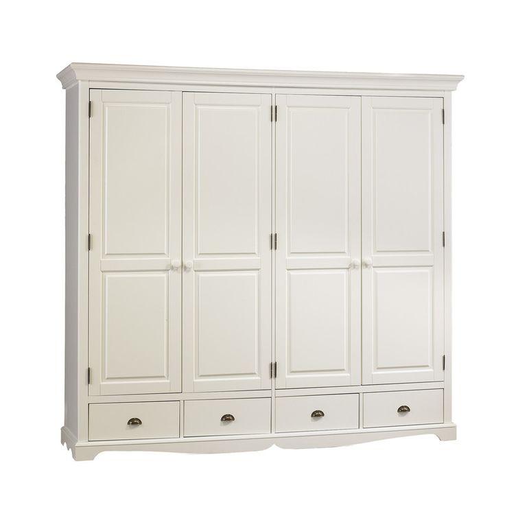 grande armoire penderie blanche de style anglais deco maison pinterest grande armoire. Black Bedroom Furniture Sets. Home Design Ideas