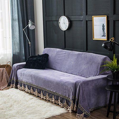 Plush Sofa Slipcover Sofa Cushion Covers Furniture Protector For 1 2 3 4 Cushions Sofa Sofa Cover Full Cover Anti Slip Sofa Slipcovers Purple 200x380cm 79x150in Cushions On Sofa Plush Sofa Leather Sofa Living Room