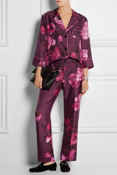 For Restless Sleepers φλοράλ πουκάμισο - παντελόνι