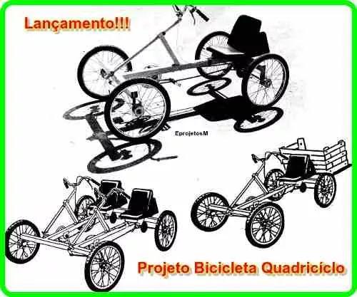3 projetos bicicleta quadriciclo