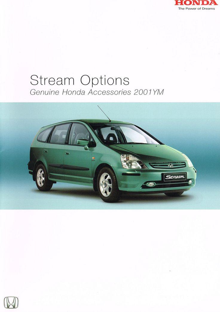 Honda Stream Mk1 UK Accessory Brochure 2001