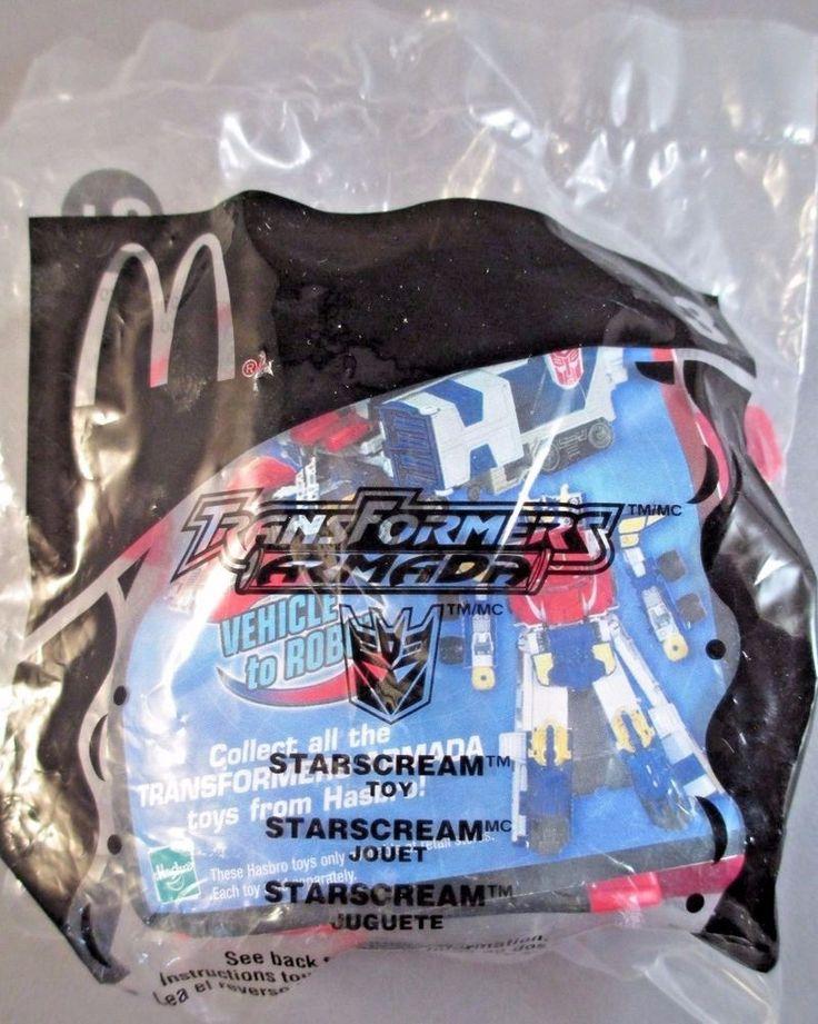 NEW McDonalds Transformers Armada Starscream Toy #3 2002 Hasbro #Hasbro