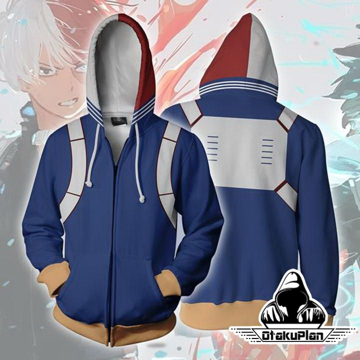 90bd76b34 My Hero Academia Hoodies - Shoto Todoroki Boku No Hero Academia Zip Up  Hoodie Jacket | Anime | My hero academia, Jackets, Hoodies