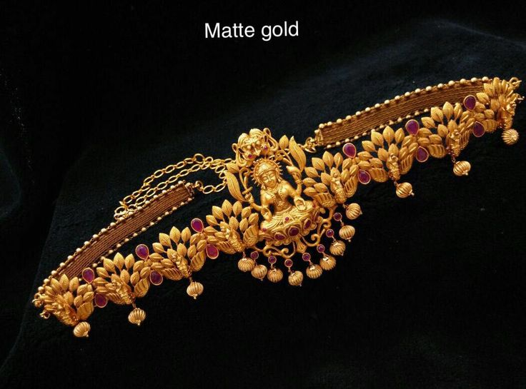 Beautiful waist belt with lakshmi devi and lotus design. Waist belt is studded with pink color stones.To buy WhatsApp on 9703870603. 15 August 2017
