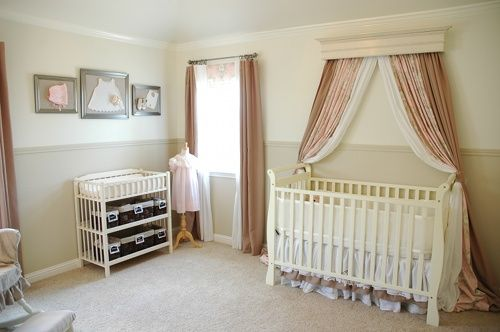 curtains over crib.: Beds Crowns, Baby Girl, Cribs Canopies, Neutral Nurseries, Baby Rooms, Girls Nurseries, Nurseries Ideas, Baby Nurseries, Baby Stuff