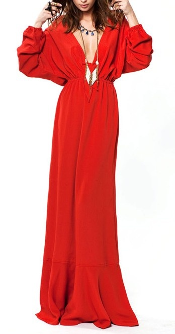 Red Maxi Gown. If only my legs were long enough for this!