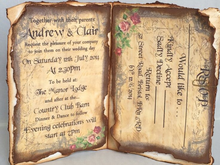 The 17 best Fairytale wedding invitations images on Pinterest
