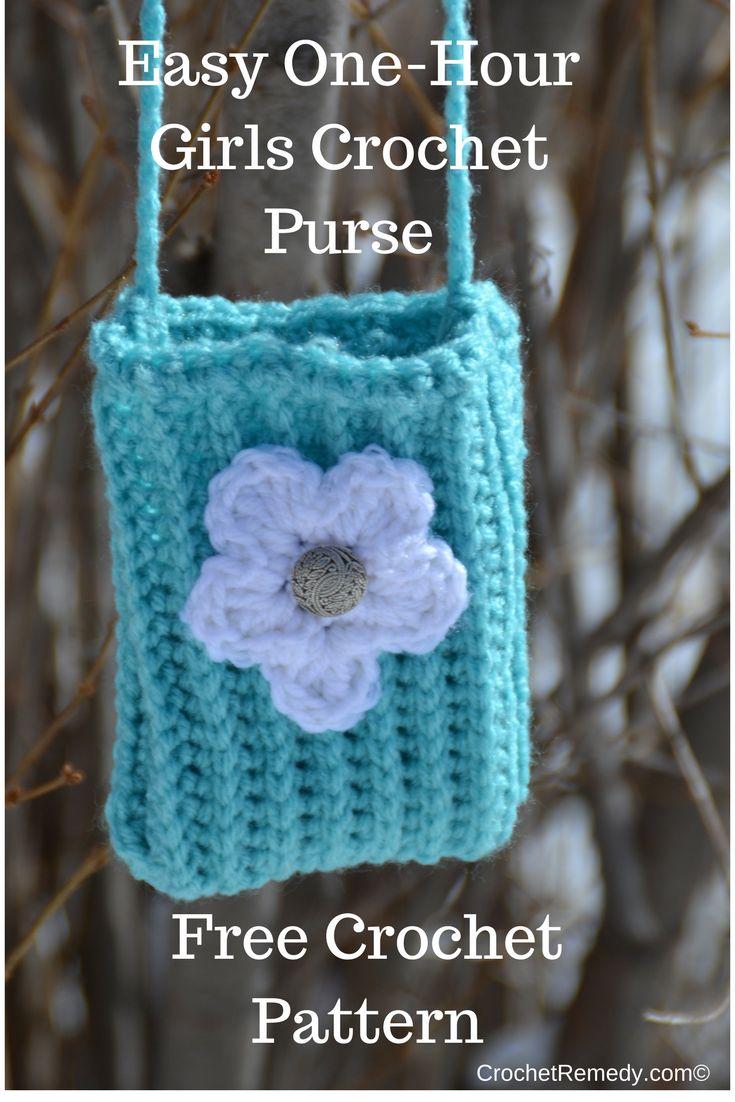 Crochet For Beginners   Free Pattern   Easy Girls Crochet Purse   CrochetRemedy.com