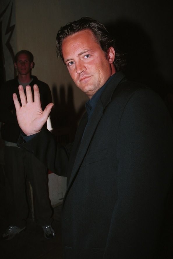 Matthew Perry is missing part of his middle finger because of a door-shutting accident.