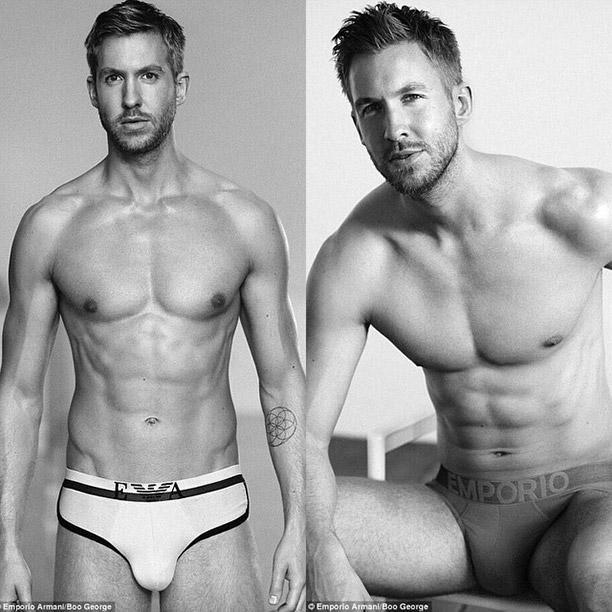 27 Celeb Underwear Ads | Calvin Harris for Emporio Armani (2015) | EW.com