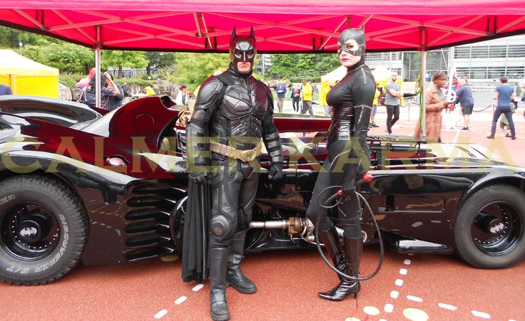Batmobile, Catwoman, Batman to hire for your superheroes corporate events across the UK inc LONDON, MANCHESTER, CHESHIRE, BIRMINGHAM, CARDIFF and NEWCASTLE. Tel:  0203 602 9540 www.calmerkarma.co.uk