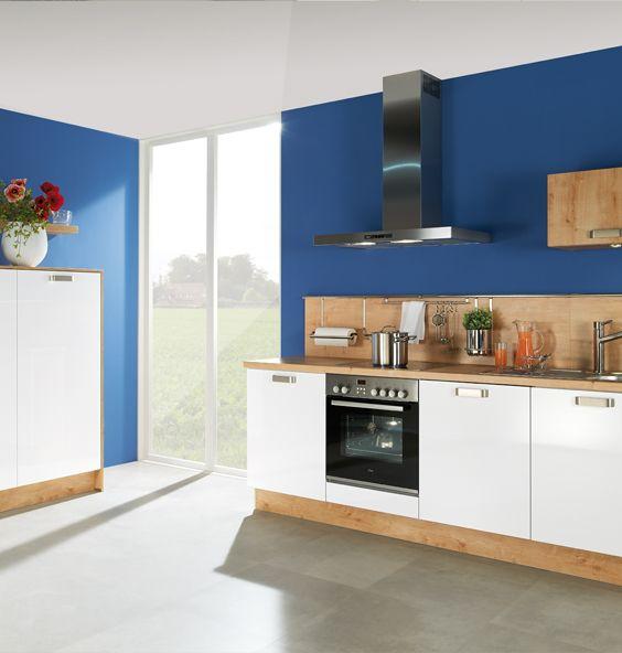 Perfect K che wei Holz dunkeblaue Wand