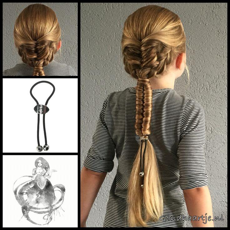 Mixed braids with a magic hairband from the webshop www.goudhaartje.nl (worldwide shipping).    #hair #hairstyle #braid #braids #plait #trenza #peinando #beautifulhair #longhair #blonde #gorgeoushair #stunninghair #hairaccessories #hairinspo #braidideas #hairstylesforgirls #coolhair #hairfeed #hairpost #knotgenie #goudhaartje