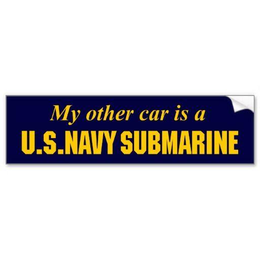 U s navy submarine bumper sticker
