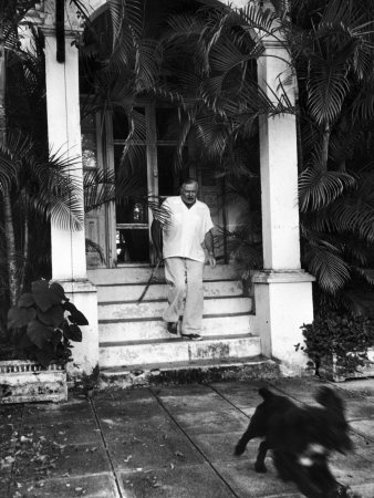 Finca Vigia. Ernest Hemingway at his home in Cuba. | Took me a while to realize Bogart portrayed his characters' ethos in almost every film | -- TH