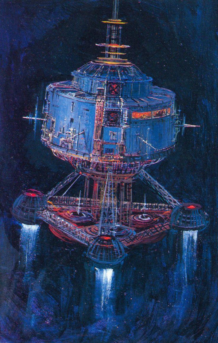 1979 The Black Hole concept art by Peter Ellenshaw