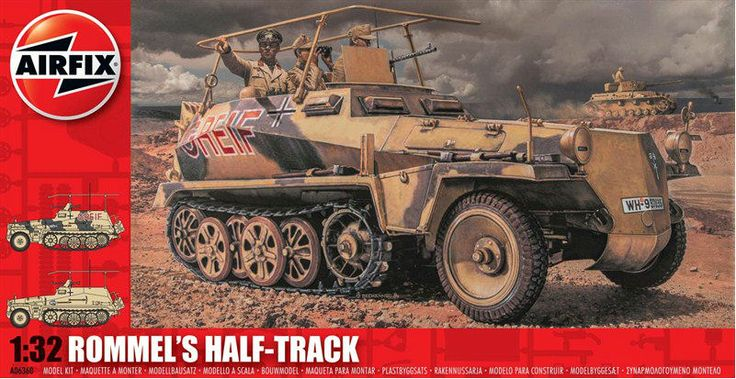 Airfix Rommel's Half Track 1:32 Plastic Model Kit A06360 only £19.99 from Hobbies