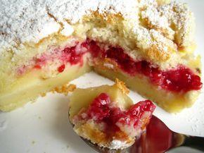 Recette de gâteau magique à la framboise : gâteau qui se divise en 3 couches à la cuisson