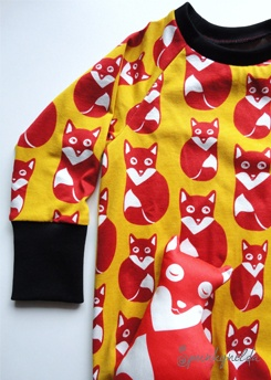 LA - Shirt, retro fox, 100% organic cotton, fabric by paapii design, sewing by Spunkynelda