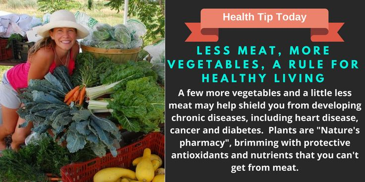 Less Meat More Vegetables a Rule For Healthy Living
