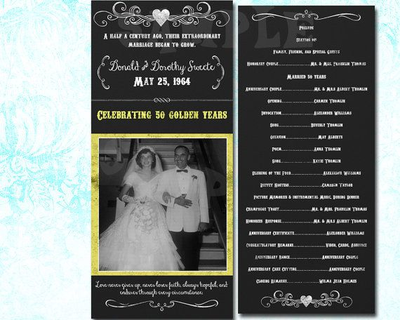 50th Wedding Anniversary Party By Partyprintexpress