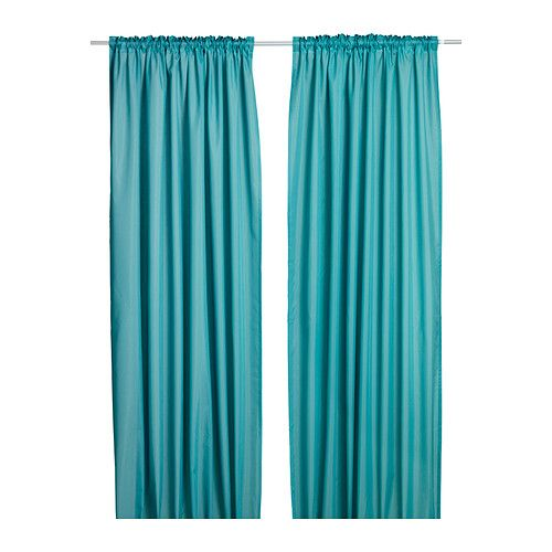 VIVAN Pair of curtains - light turquoise - IKEA $9.99