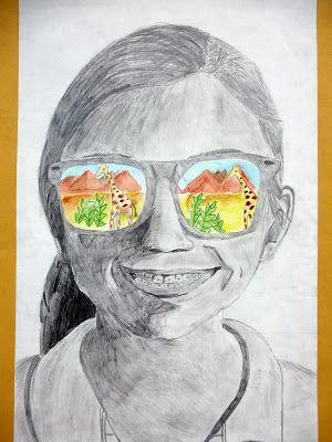 The Calvert Canvas: Adventures in Middle School Art! Jezelf tekenen en je vakantiebestemming in de zonnebril