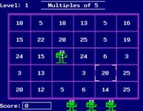 When we first started using computers in school, we played this fun little math game!