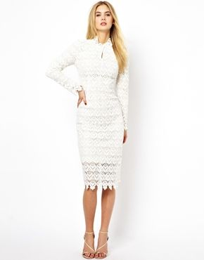 Arrogant Cat London High Neck Pencil Dress in Lace http://www.asos.com/Arrogant-Cat/Arrogant-Cat-London-High-Neck-Pencil-Dress-in-Lace/Prod/pgeproduct.aspx?iid=3346301&cid=2623&sh=0&pge=0&pgesize=36&sort=1&clr=White&utm_source=Affiliate&utm_medium=LinkShare&utm_content=USNetwork.1&utm_campaign=QFGLnEolOWg&cvosrc=Affiliate.LinkShare.QFGLnEolOWg&link=15&promo=307314&source=linkshare&MID=35719&affid=2135&WT.tsrc=Affiliate&siteID=QFGLnEolOWg-xb_v4MM4ZzQMUChhZ0nVWw