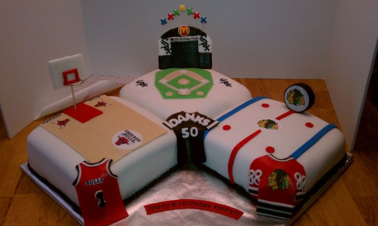 chicago sports theme cakes | Chicago Bulls Cake