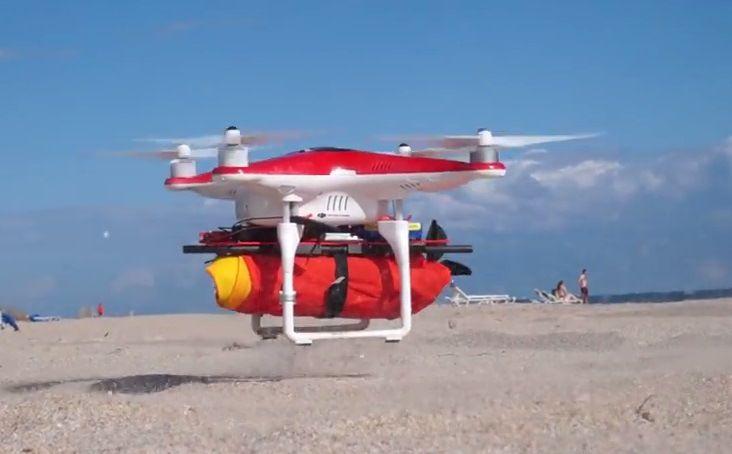 Drones salvavidas :http://www.xdrones.es/2015/05/drones-salvavidas/