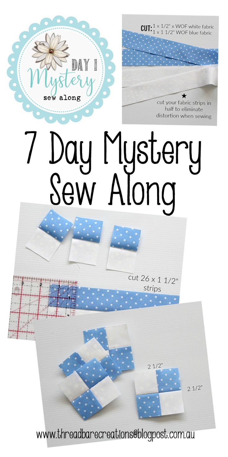 Threadbare Creations- 7 Day Sew Along Day 1