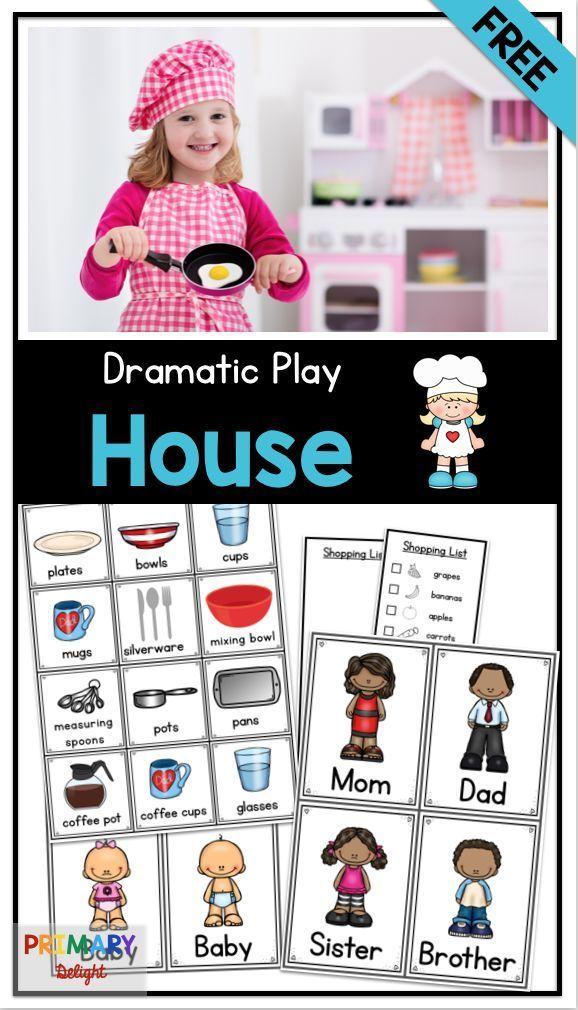 Housekeeping Dramatic Play Center FREEBIE – My Pre-K Favorites
