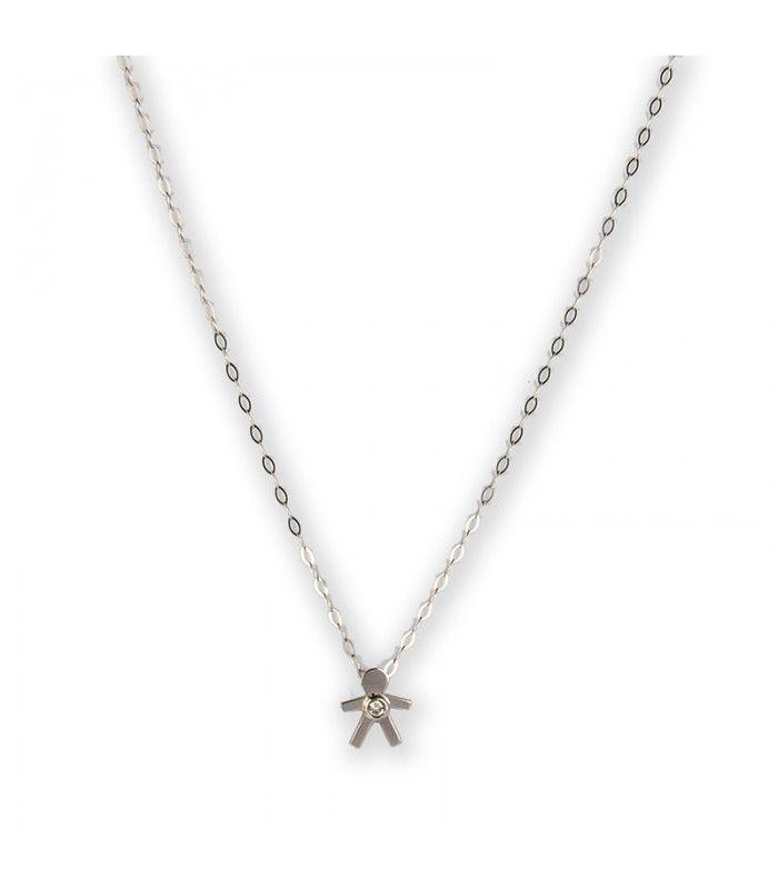 cadena con colgante mueco de oro blanco y diamante ct subastas regentus